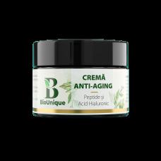 Cremă Anti-Aging cu Peptide, Acid Hialuronic și Coenzima Q10 - 50 ml